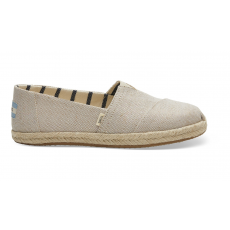 TOMS Beige Metallic Canvas Women's Espadrilles