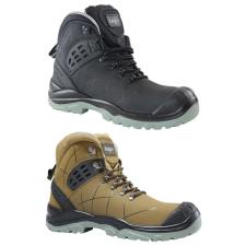 TOP TS 4949 S3 SRC védőbakancs, kompozit orrmerevítő, kevlár talplemez, nubuk bőr felsőrész, fekete, 44 munkavédelmi cipő