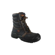 TOP WINTON S3 SRC magasszáru védőbakancs, narancs bélés, acél orrmerevítő és talplemez, fekete, 42 munkavédelmi cipő