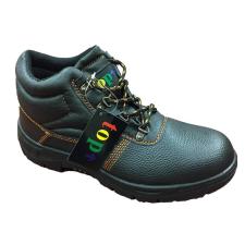 TOP WORK S3 munkavédelmi bakancs, acél orrmerevítő és talplemez, bőr felsőrész, PU talp, fekete, 46 munkavédelmi cipő