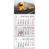 TOPTIMER T074, 3 tömbből álló 3 havi speditőr naptár - Kamion fejrésszel
