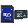 "Toshiba Memóriakártya, microSDHC, 16GB, UHS 3, adapterrel, TOSHIBA ""EXCERIA"""