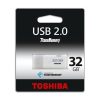 "Toshiba Pendrive, 32GB, USB 2.0, 18/5MB/sec, TOSHIBA ""HAYABUSA"", fehér"