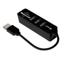 TRACER CH4 memóriakártya olvasó, All-In-One + HUB USB 2.0 pendrive