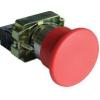Tracon Electric Tokozott gombafejű vészgomb, fémalap, piros, sárga fedéllel - 1xNC, 3A/400V AC, IP42, d=60mm NYGBC42PTS - Tracon