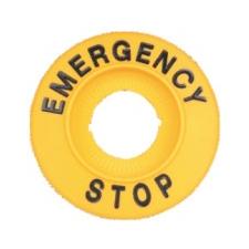 TRACON NYG3-ES60H EMERGENCY STOP lap d=60mm, h=8mm, ABS villanyszerelés