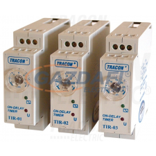 TRACON TIR-03 Egyfunkciós időrelé, meghúzáskésleltetés 230V AC/24V AC/DC, 1-30min, 5A/250V AC villanyszerelés