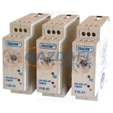 TRACON TIR-04 Egyfunkciós időrelé, meghúzáskésleltetés 230V AC/24V AC/DC, 2-60min, 5A/250V AC villanyszerelés