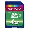 Transcend 4GB SDHC memóriakártya - adapterrel TS4GSDHC4 (TS4GSDHC4)