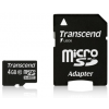 Transcend Micro SDHC 4GB Class 10 memóriakártya + adapter ( 20MB/s / Full HD )