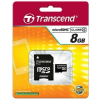 Transcend Micro SDHC 8GB Class 4 memóriakártya + adapter