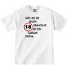 Tréfás póló 18 éves (M méret)