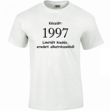 Tréfás póló 20 éves, Készült 1997...   (S) vicces ajándék
