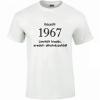 Tréfás póló 50 éves, Készült 1967... (M)