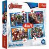 Trefl : Marvel - Rettenthetetlen Bosszúállók 4 az 1-ben puzzle