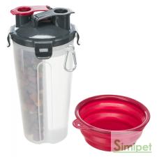 Trixie Feed and Water Containers - Úti etető és itató egyben ( 2× 0.35 l/ø 11 × 23 cm) kutyatál