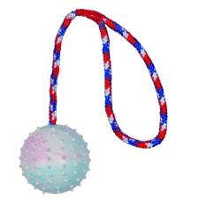 Trixie Játék tömör gumi labda kötéllel 7cm/30cm játék kutyáknak