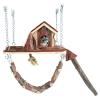 Trixie Játszótér Ketrecbe Függeszthető Fából Rágcsálóknak 26×22cm