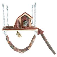 Trixie Játszótér Ketrecbe Függeszthető Fából Rágcsálóknak 26×22cm játék rágcsálóknak
