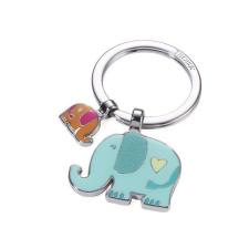 """Troika Kulcstartó, 2 charm dísszel, TROIKA """"Elefántok"""", vegyes színek kulcstartó"""