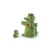 Trudi plüss báb - Krokodil kicsinyével