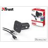 Trust Apple iPhone 5/5S/5C/SE/6S/6S Plus Lightning szivargyújtó töltő adapter 1 m-es kábellel (Apple MFI engedélyes) - Trust - 5V/1A - fekete