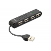 Trust Vecco 4 Port USB 2.0 Mini Hub (fekete) (14591)