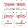 TRW Fékbetét készlet, tárcsafék TRW COTEC GDB1456