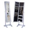 Tükrös ékszertartó szekrény, fehér