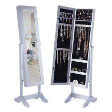 Tükrös ékszertartó szekrény, fehér bútor