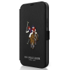 "U.S. POLO ASSN. US Polo USFLBKP12MPUGFLBK iPhone 12 / iPhone 12 Pro 6,1"" fekete könyv Polo Embroidery Collection telefontok"
