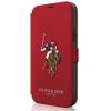"U.S. POLO ASSN. US Polo USFLBKP12MPUGFLRE iPhone 12 / iPhone 12 Pro 6,1"" piros könyv Polo Embroidery Collection telefontok"
