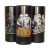 . Üdítős pohár HB, fekete, Star Wars dekorral, vegyes mintában 270ml -3db-os szett