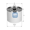 UFI Üzemanyagszűrő UFI 24.360.00
