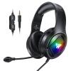 UiiSii Wintory M1 gaming fejhallgató 3D sztereó hangzással, mikrofonnal, fekete