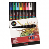 UNI POSCA Marker Bullet Tip Assorted Pack, PC-5M/8pcs - White, Black, Blue, Red, Green, Light Blue, Pink, Yellow