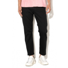 United Colors of Benetton , Slim fit chino nadrág, Fekete, 50 (4L8A55EI8-100-50)