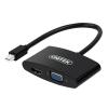 Unitek Adapter miniDisplayPort - VGA/HDMI; Y-6328BK