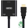 Unitek mini/micro/HDMI --> VGA + audio adapter /Y-6355/ (Y-6355)