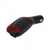 Univerzális FM transzmitter, microUSB, MonoTech TR-300, fekete/piros
