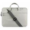 """Univerzális laptop táska, 13""""-os készülékhez, hosszú oldal zseb, vállpánttal, Iralan, szürke"""