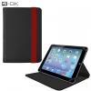 """Univerzális TabletPC tok, mappa tok, 10.1""""-os készülékekhez, nanopadszerű rögzítés, Blautel 4-OK, fekete/piros"""