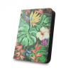 """Univerzális TabletPC tok, mappa tok, 7-8"""", stand, dzsungel minta, színes"""