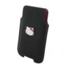 Univerzális tok, Galaxy Young 2 / BlackBerry 8900 méret, Hello Kitty, fekete