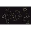 Űrhajók, bolygók és ufo foszforeszkáló falmatrica