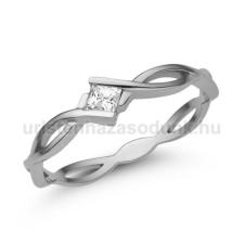 Úristen, házasodunk! E11FC - CIRKÓNIA köves fehér arany Eljegyzési Gyűrű gyűrű