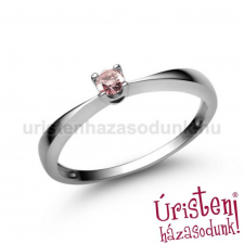 Úristen, házasodunk! E1FZR - RÓZSASZÍN ZAFÍR köves fehér arany Eljegyzési Gyűrű gyűrű