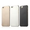 USAMS Apple iPhone 6, USAMS Metallica oldalt átlátszó, hátul fémes hatású TPU tok, fekete