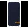 USAMS Duke Samsung G955 Galaxy S8+ oldalra nyíló hátlap tok, kék