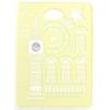 USAMS Tower oldalra nyíló bőrbevonatos tok Apple iPad Air-hez bézs*
